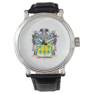 Alvarado Coat of Arms - Family Crest Wrist Watch