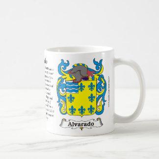 Alvarado Family Coat of Arms Mug