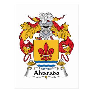 Alvarado Family Crest Postcard