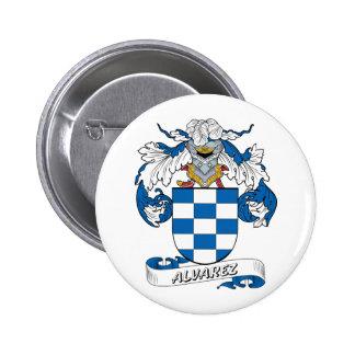 Alvarez Family Crest Button