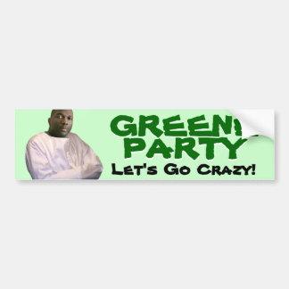 Alvin Greene: Let's Go Crazy! Bumper Sticker