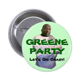 Alvin Greene: Let's Go Crazy! Pinback Button