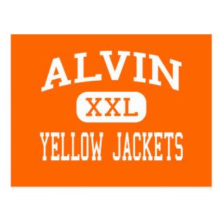 Alvin - Yellow Jackets - High School - Alvin Texas Post Card