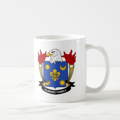 Alward Family Crest Classic White Coffee Mug