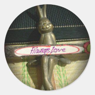 Alwaus Love Hakuna Matata Cute Rabbit style.png Classic Round Sticker