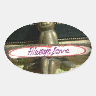Alwaus Love Hakuna Matata Cute Rabbit style.png Oval Sticker