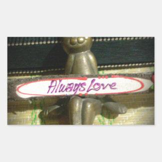 Alwaus Love Hakuna Matata Cute Rabbit style.png Rectangular Sticker