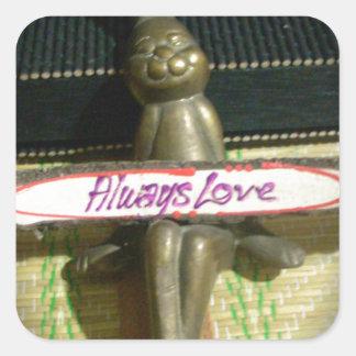 Alwaus Love Hakuna Matata Cute Rabbit style.png Square Sticker