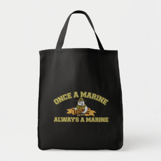 Always A Marine Grocery Tote Bag
