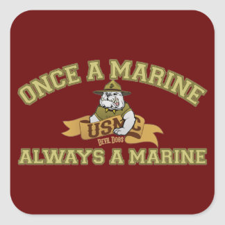 Always A Marine Stickers
