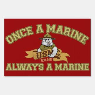 Always A Marine Signs