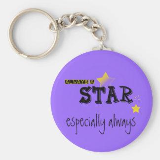 Always a STAR! keychain