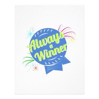 Always a Winner Customized Letterhead