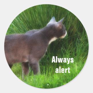 Always alert classic round sticker