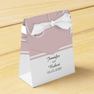 Always and Forever Blush Pink Wedding Favor Box