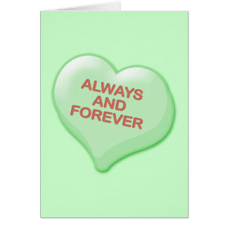 Always and Forever Candy Heart Card