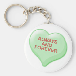 Always and Forever Candy Heart Keychain