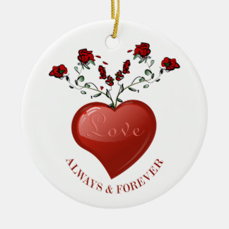 Always And Forever Ceramic Ornament