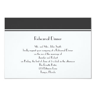 Always and Forever Charco Wedding Rehearsal Dinner Card