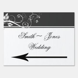 Always and Forever Charcoal Wedding Direction Sign
