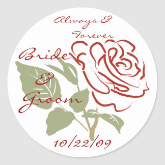 Always and Forever Classic Round Sticker