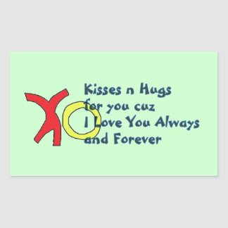 Always and Forever Kiss Hug Stickers