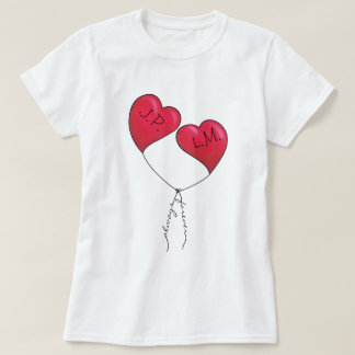 Always and Forever Knotted Heart Balloons T-Shirt