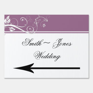 Always and Forever Lavender Wedding Direction Sign