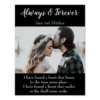 Always and Forever Love Photo Poem Poster