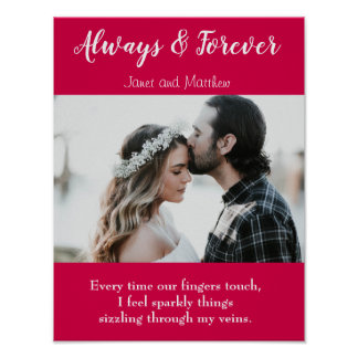 Always and Forever Love Photo Poetry Poster