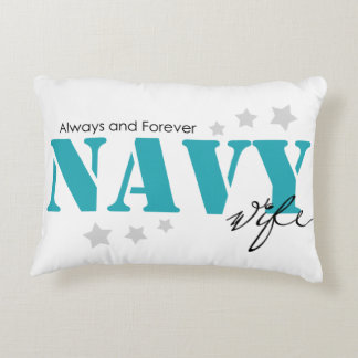 Always and Forever - Navy Wife Accent Pillow