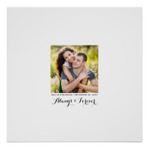 Always and Forever Photo Wedding Signature Poster
