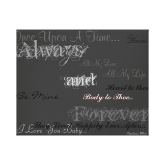 Always and Forever Picture Canvas Print