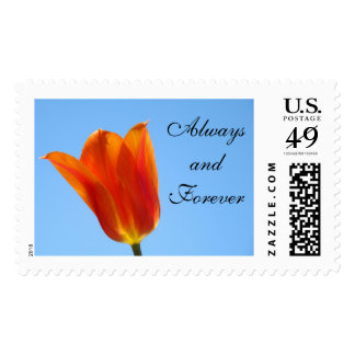 Always and Forever postage stamps Tulip Flowers
