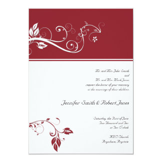 Always and Forever Ruby Personalized Invite