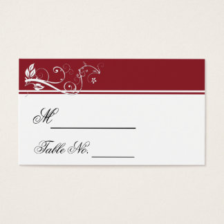 Always and Forever Ruby Wedding Place Card