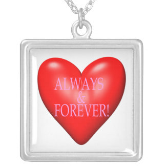 Always And Forever Square Pendant Necklace