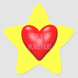 Always And Forever Star Stickers