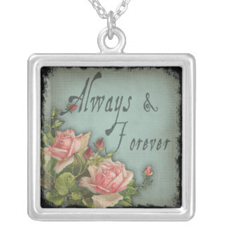 Always and Forever Vintage Rose Pendant