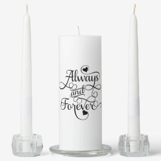 Always and Forever, Wedding or Valentine's Day Unity Candle Set