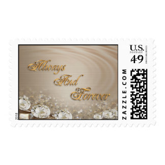 Always and Forever wedding postage