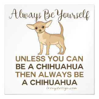 Always Be a Chihuahua Magnetic Card