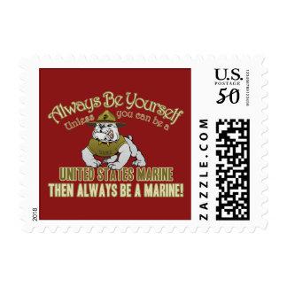 Always Be A Marine Postage