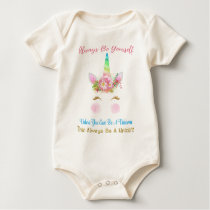 Always Be A Unicorn Baby Bodysuit