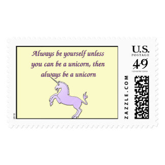 Always be a Unicorn Postage Stamp