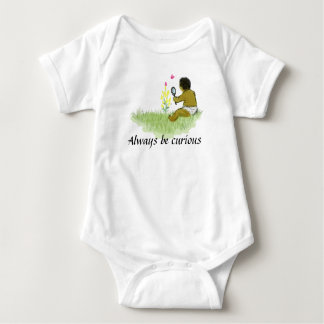 Always be curious baby bodysuit