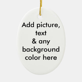 ALWAYS BE PREPARED (with bullet-holes) Double-Sided Oval Ceramic Christmas Ornament