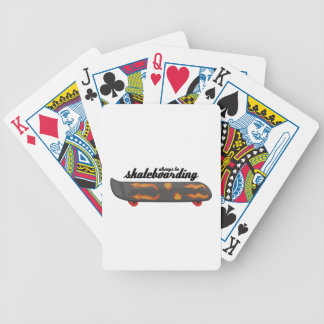Always Be Skateboarding Bicycle Playing Cards