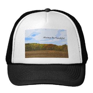 Always Be Thankful Motivational Autumn Landscape Trucker Hat