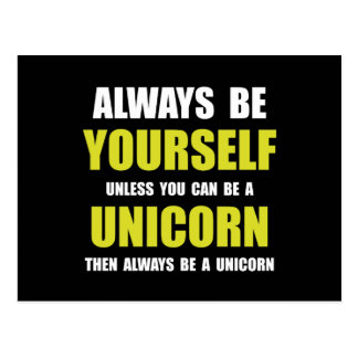 Always Be Unicorn Postcard